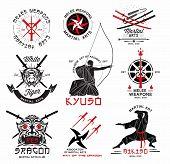 foto of crossed swords  - Set of martial arts - JPG