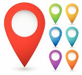 pic of indications  - Map marker map pin vector - JPG