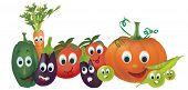 image of animated cartoon  - Cartoon Vegetables - JPG