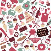 picture of cake-mixer  - Seamless pattern of bakery and sweets - JPG
