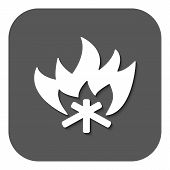 image of bonfire  - The fire icon - JPG