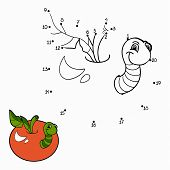 foto of worm  - Game for children - JPG