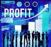 image of accumulative  - Profit Finance Data Analysis Money Accumulation Concept - JPG