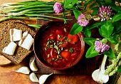 pic of slab  - Ukrainian dinner with borscht - JPG