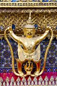 picture of demon  - demon in the temple bangkok asia thailand abstract cross colors step gold wat palaces - JPG