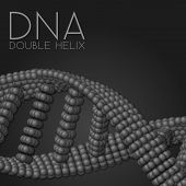 stock photo of chains  - Chain of spheres with soft shadows in form of helix on the background - JPG