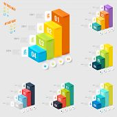 pic of pyramid  - Set of modern infographics element number template - JPG