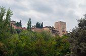 picture of v-day  - Alhambra in Granada of day - JPG