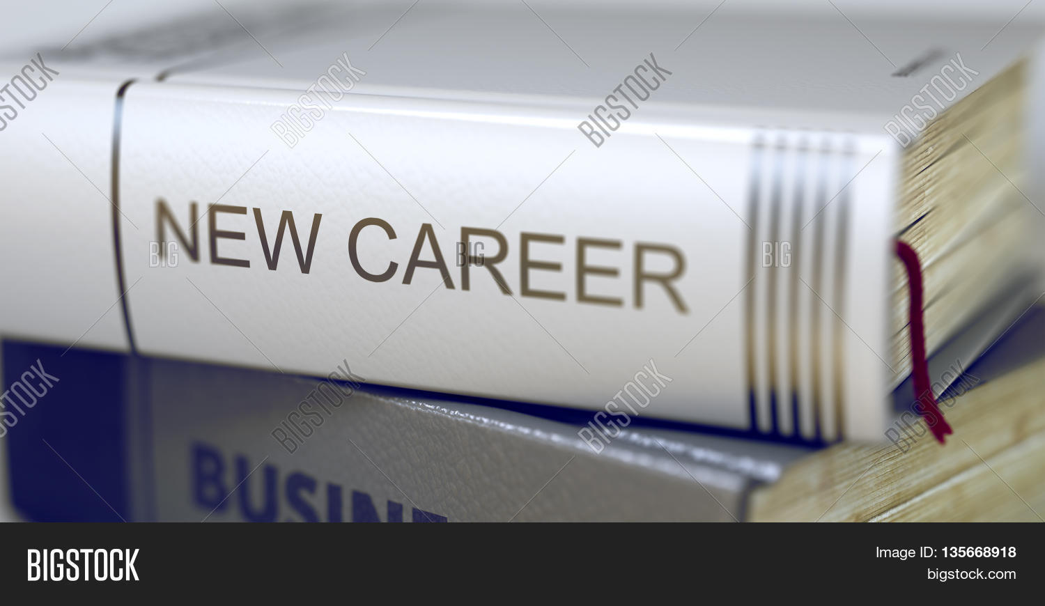 book title on the spine new career book in the pile the book title on the spine new career book in the pile the title