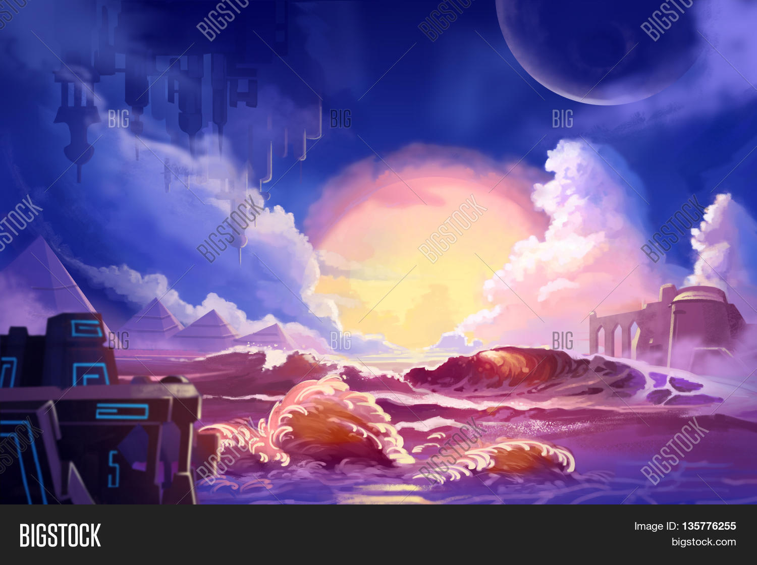 Game with watercolor - Watercolor Style Video Game Digital Cg Artwork Concept Art Illustration Set 4 The Alien Planet