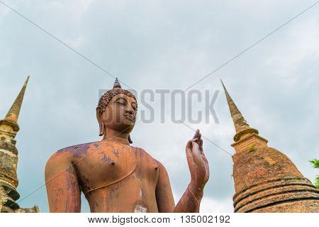 Attitude of the Buddha  at Sukhothai Historical Park, Thailand.