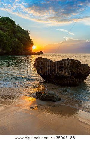 Padang Padang Beach in Bali Indonesia - nature vacation background