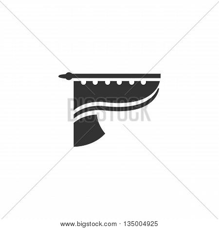 Curtains icon on white background. Curtains vector logo. Flat design style. Modern vector pictogram for web graphics. - stock vector