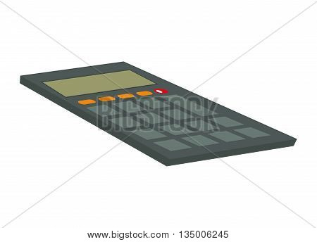 Mathematics concept represented by calculator icon over flat and isolated background