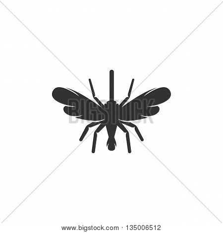 Mosquito icon on white background. Mosquito vector logo. Flat design style. Modern vector pictogram for web graphics. - stock vector