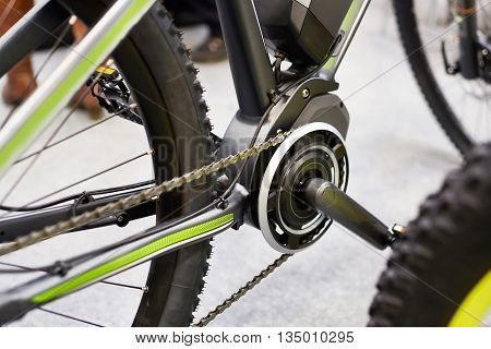 Motor Electric Bicycles In Front Of Carriage Pedals