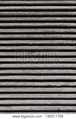 Wooden Shutters, Covering A Window Or Door