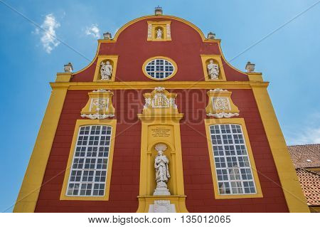 Facade of the Gymnasial church in Meppen Germany