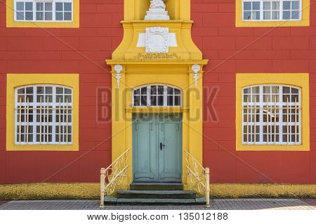 Entrance of the Gymnasial Church in Meppen Germany