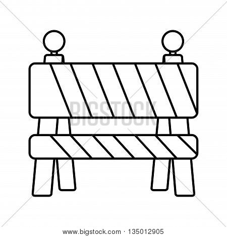 Under Construction concept represented by barrier icon over flat and isolated background