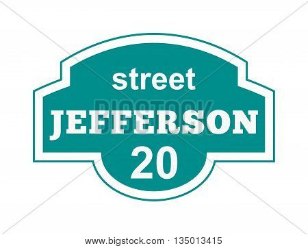 House number main street and vector street sign frame, house number plate design. Street sign wall frame and postel one urban house number. Street sign numeral architecture address symbol.