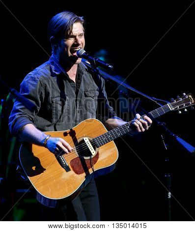 NEW YORK-APR 30: Chris Carmack performs onstage during the 'Nashville' Tour at The Beacon Theater on April 30, 2015 in New York City.