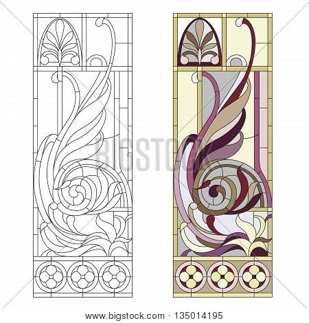 Stained glass window in the style of historicism