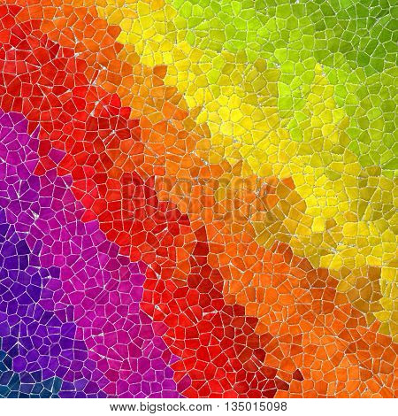 diagonal full spectrum rainbow mosaic pattern texture background with gray grout