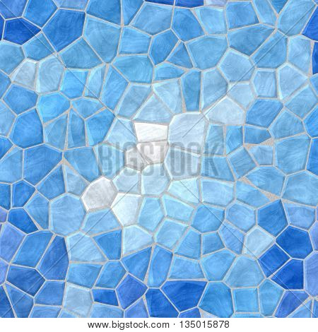 sky blue mosaic pattern texture background with gray grout