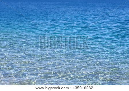 the Blue sea summer light water background