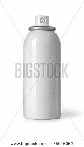cosmetic white spray bottle isolated on white background with clipping path