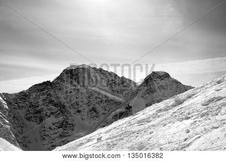 Black And White Off-piste Slope