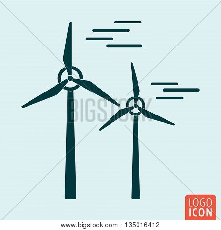 Windmill icon isolated. Wind turbine icon. Alternative energy symbol. Vector illustration