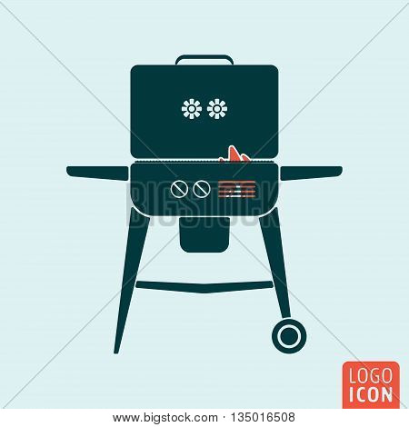 BBQ icon isolated. Barbecue symbol. Vector illustration