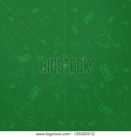 European Championship Background, Soccer Wallpaper, Sport Elements Illustration