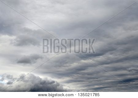Cloud sky by evening may be used as background.