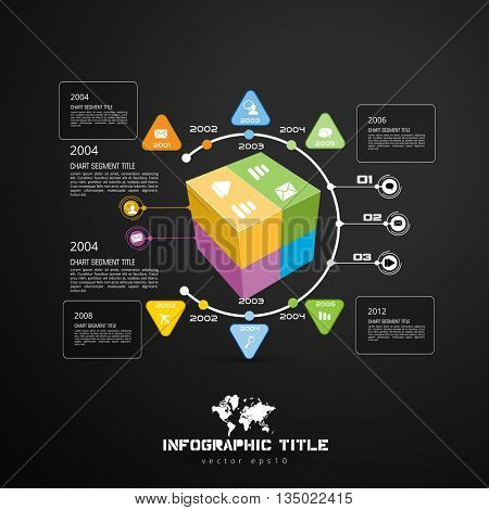 Geometric abstract modern background for infographic