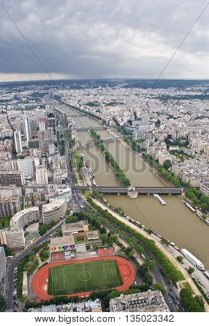 A view of Paris from Eiffel Tower