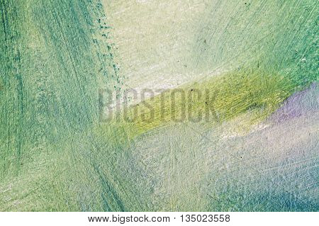 Abstract Oil Painting Background, Blue And Green