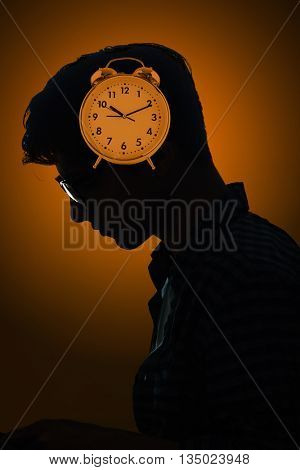 Concept of missing deadlines with man and clock