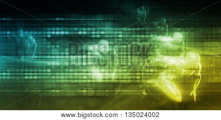 System Network with Super Fast Response Time Concept 3D Illustration