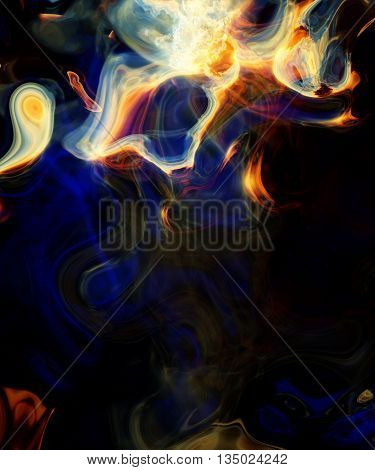 magical abstraction electric smoke, smoke abstraction, abstract colorful smoke, abstract dime, cover design, abstraction design on black background, smoke on black background abstraction light effects