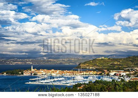 Beautiful coast town Izola in Slovenia, Europe