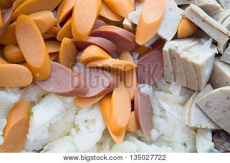 Ingredients Thai Seafood Mixed Salad  market thailand