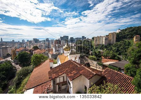 Rio de Janeiro City Center and Downtown View from Santa Teresa