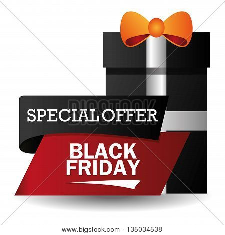 Black Friday concept with sale icons design, vector illustration 10 eps graphic.