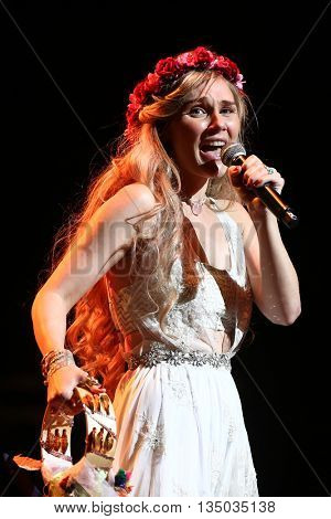 NEW YORK-APR 30: Clare Bowen performs onstage during the 'Nashville' Tour at The Beacon Theater on April 30, 2015 in New York City.