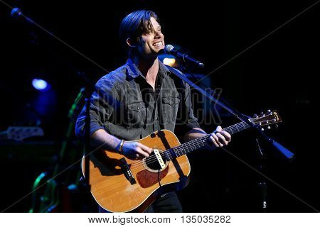 NEW YORK-APR 30: Chris Carmack performs onstage during the 'Nashville' Tour at The Beacon Theatre on April 30, 2015 in New York City.
