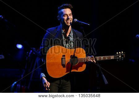 NEW YORK-APR 30: Sam Palladio performs onstage during the 'Nashville' Tour at The Beacon Theater on April 30, 2015 in New York City.