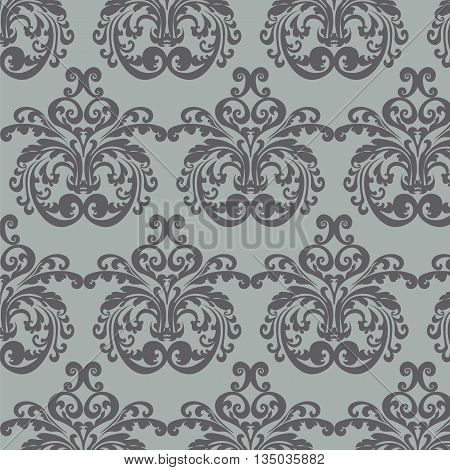 Vintage Royal Classic damask ornament pattern. Vector